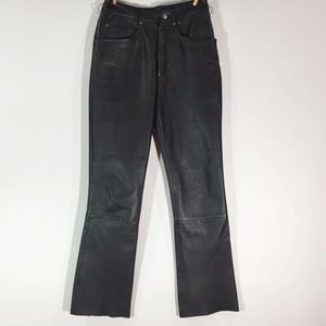 Maxima Black Leather Pants Size 6 lined
